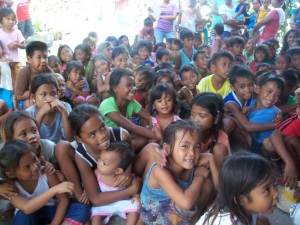 Children in Mangalabang Island